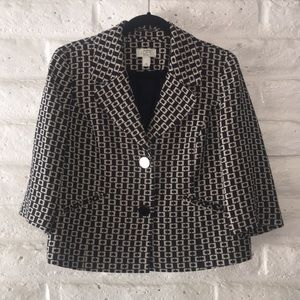 Ann Taylor Loft petites navy blue/tan blazer